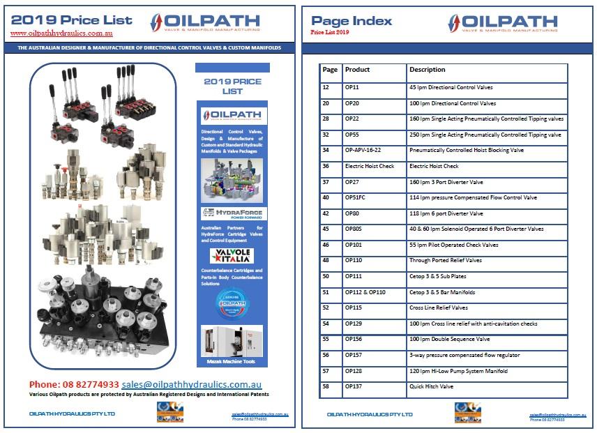 Oilpath Hydraulics - Hydraulic Manifolds, Hydraulic Control Valves