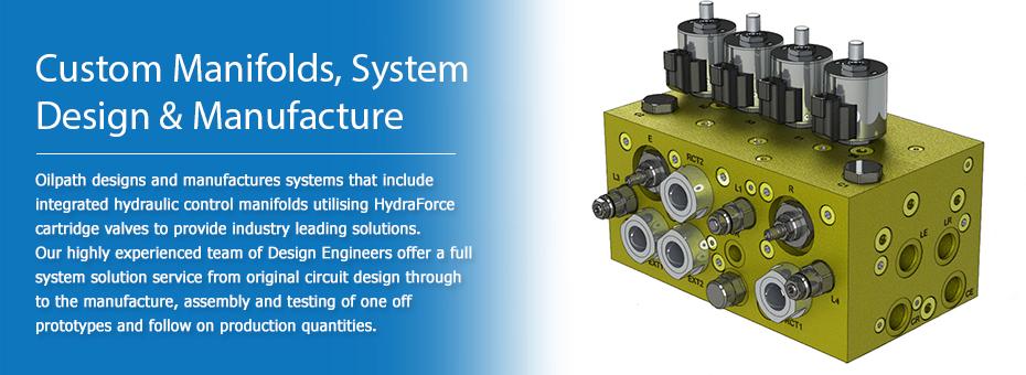 Custom hydraulic control manifolds utilising HydraForce cartridge valves
